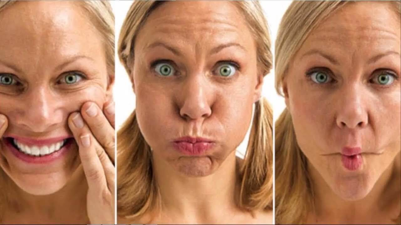 Facial exercises to tone your face